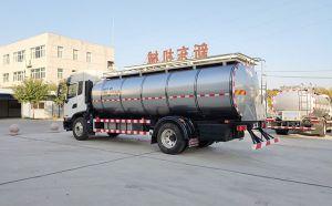 新疆國六10噸一體鮮奶槽罐車客戶送