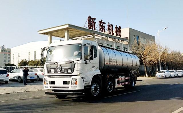 東風國五16噸車罐一體鮮奶罐車送往廣東