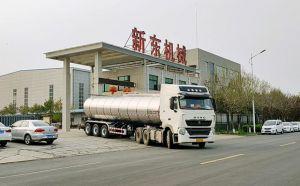 江门客户订购的34吨伊利运奶车发往广东
