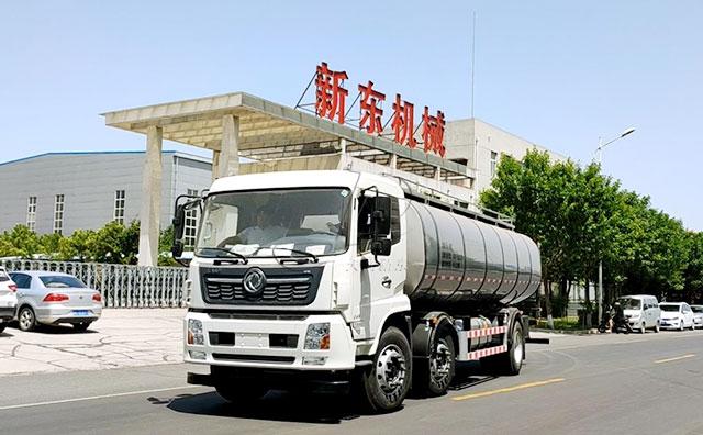 我公司東風國五16m3奶罐一體車發往山東