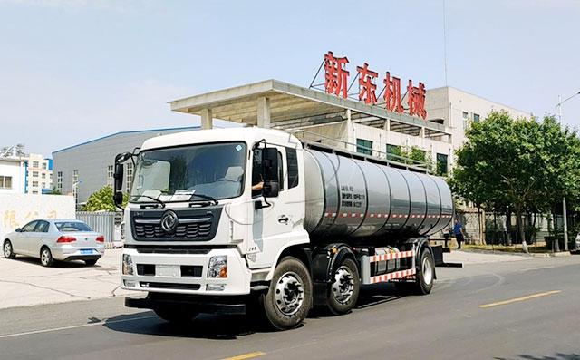 我公司国五16方牛奶保温罐车发往周口物流公司