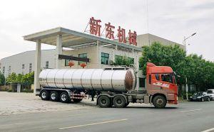 天潤新東35立方運輸鮮奶掛車交付山