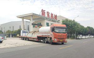 天润新东10吨不锈钢牛奶制冷罐发往陕西
