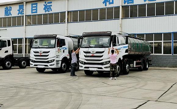 解放国六20吨牛奶运输车